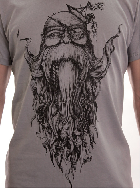 Beardo T-Shirt - Grey