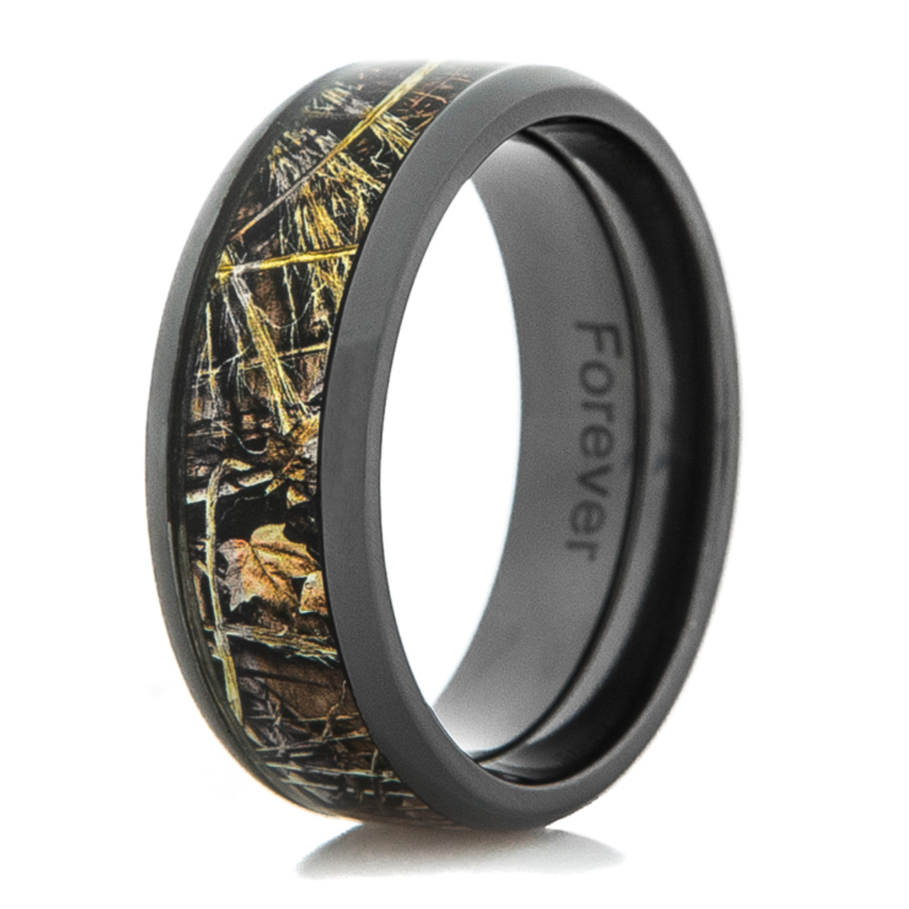 9b3d20e063 Black Zirconium Realtree MAX-4 Camo Ring - Titanium-Buzz