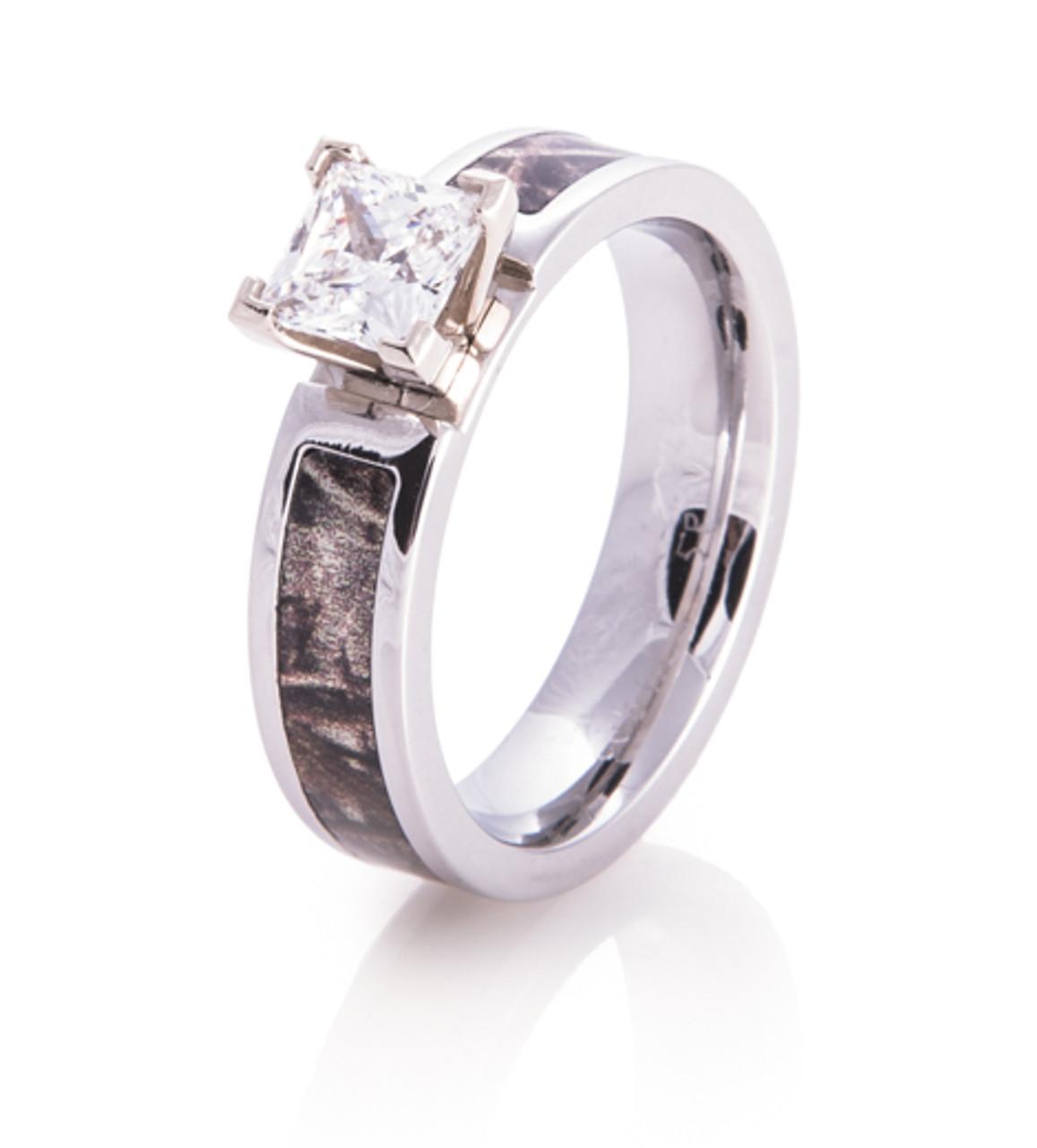 9c984dcbc Cobalt Chrome Diamond Camo Ring Camo Engagement Ring