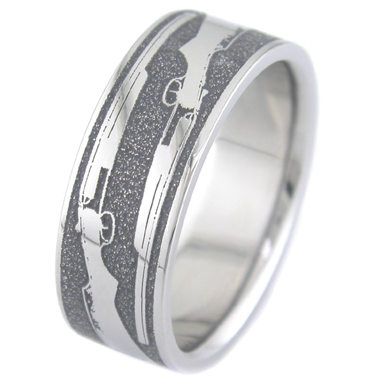 The Shotgun Wedding Ring   Unique Titanium Rings & More | Titanium