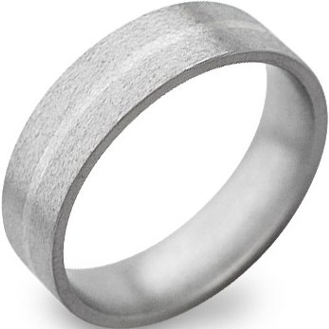 7751292691382 Men's Stone Finish Titanium and White Gold Inlay Ring
