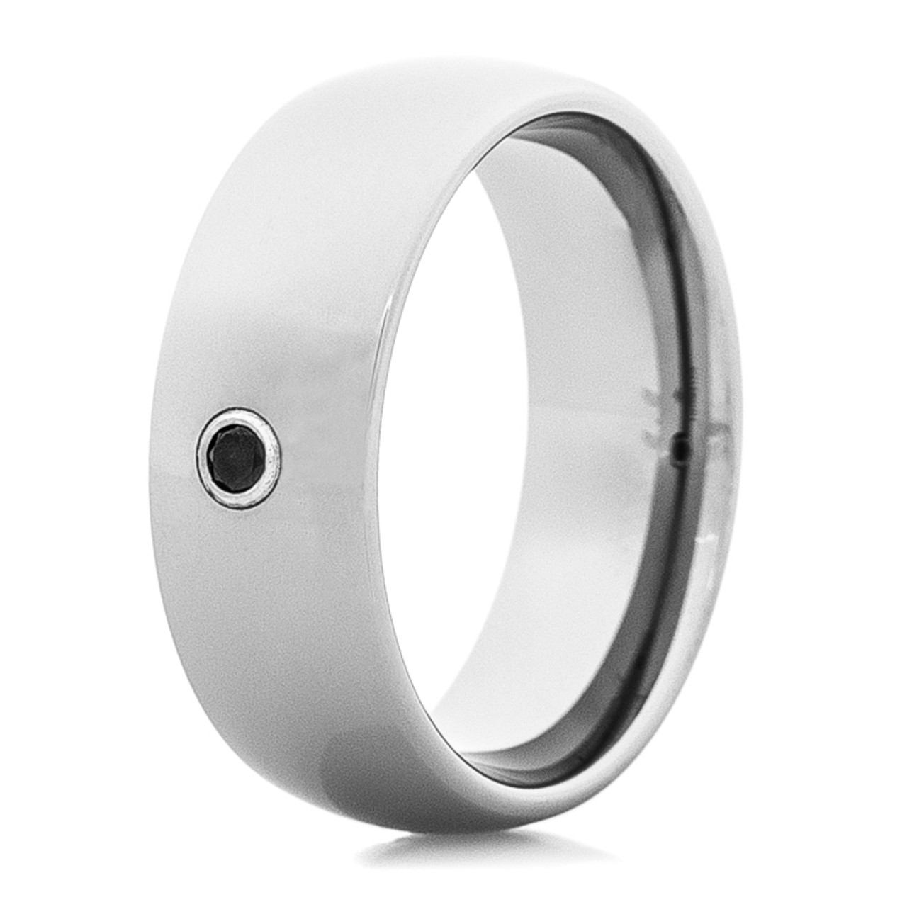 Tungston Carbide Wedding Rings.Men S Tungsten Carbide Wedding Ring With Black Center Stone