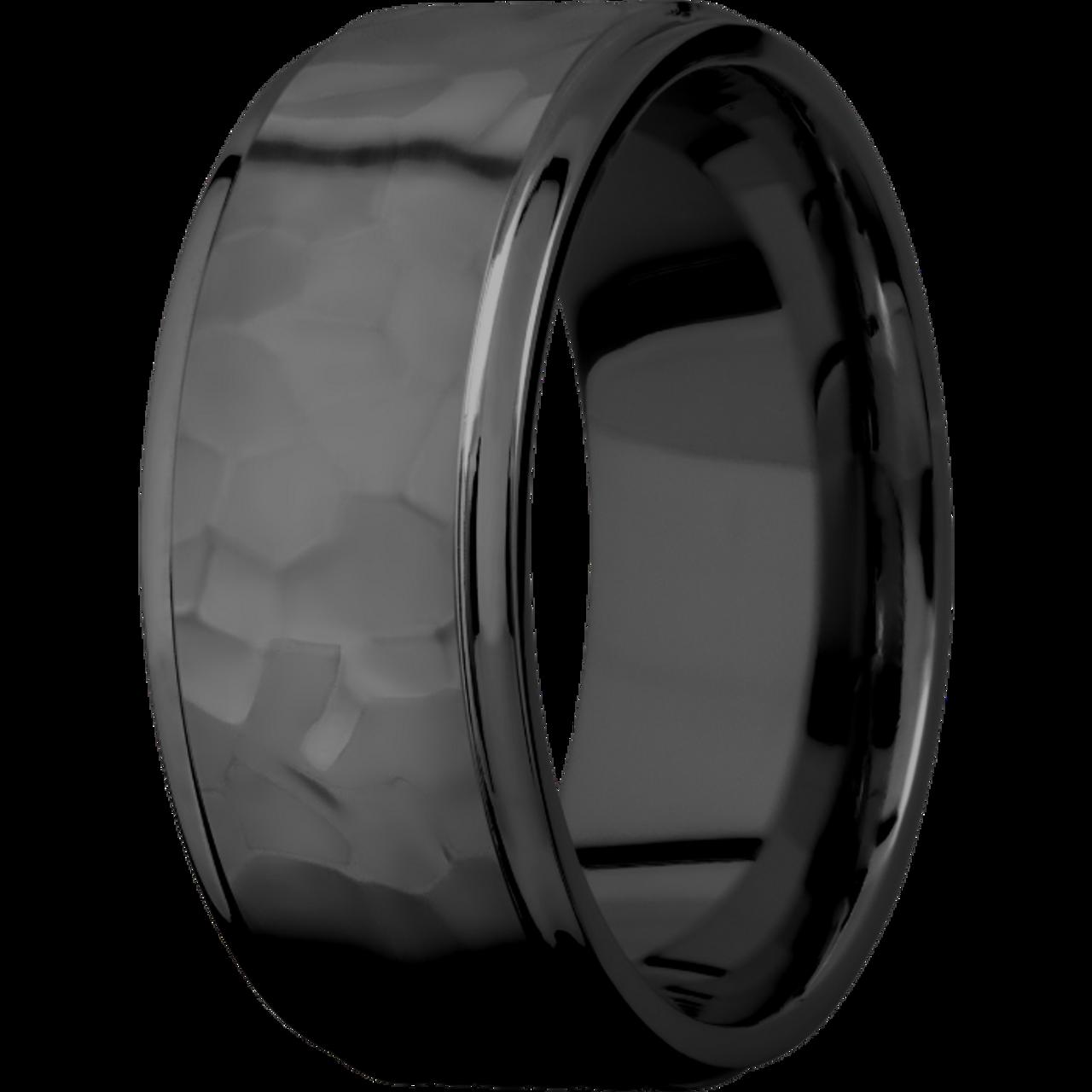 Custom Black Zirconium Tire Tread Rings Rugged Men/'s Rings