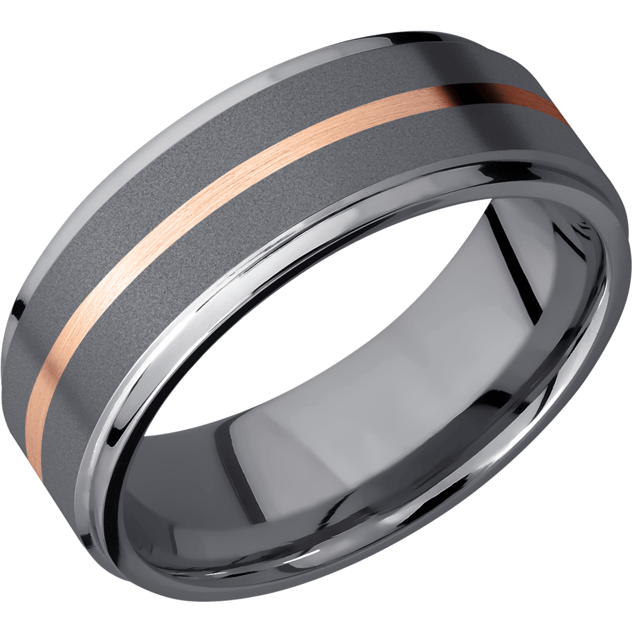 Mens Rose Gold Wedding Band.Men S Tantalum Rose Gold Wedding Ring