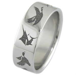 Men's Titanium Wildlife Wedding Band