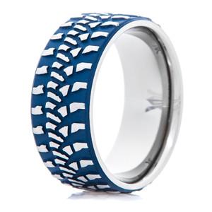 Tire Tread Wedding Rings: Dirt Bike, Goodyear, Motorcycle