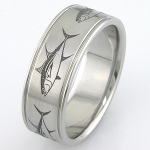 Men's Titanium Big Fish Ring