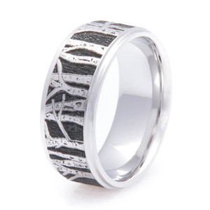 The Men's Cobalt Aspen Tree Line Ring