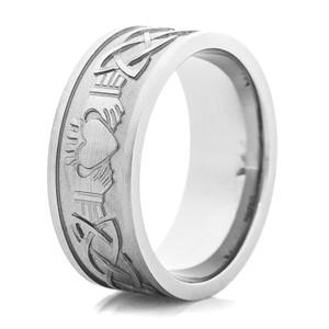Titanium Claddagh Ring
