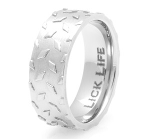 Men's Titanium Diamond Plate Band