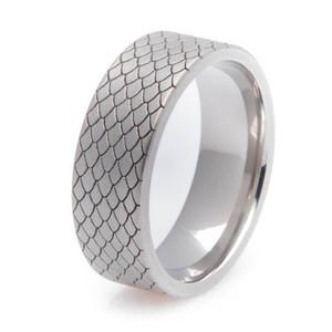 Titanium Dragon Scale Ring
