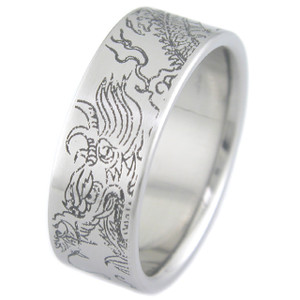 Titanium Year of the Dragon Ring