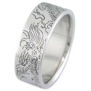 Titanium Year of the Dragon Ring