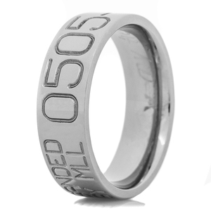 Men's Titanium Duck Band Wedding Ring