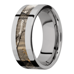 Men's Flat Profile Titanium Camo Rings