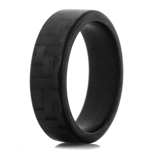 Men's Black Carbon Fiber Ring Narrow Endurance Finish