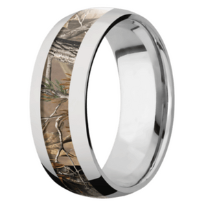 Men's Titanium Dome Profile Camo Ring