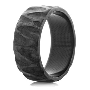 Standard Width Carbon Fiber Rock Finish Ring