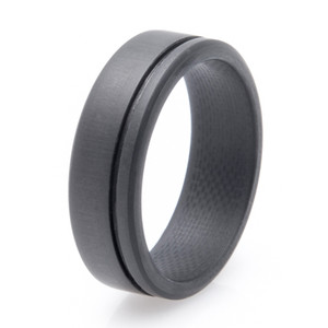 Men's Simplex Carbon Fiber Wedding Ring