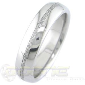 Men's Thin Titanium Gibeon Meteorite Ring