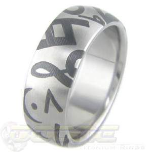 Titanium Music Ring