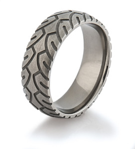 Men's Titanium Motorcycle Ring