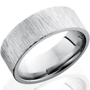Men's Cobalt Tree Bark Style Ring