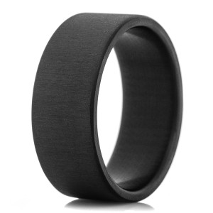 Men's Black Uni-Directional Carbon Fiber Ring