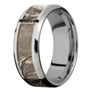 Men's Titanium Beveled Edge Camouflage Ring