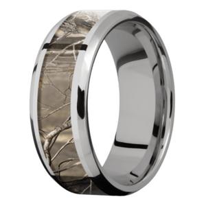 Men's Titanium Beveled Edge Camouflage Ring