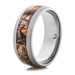 Men's Titanium Beadblasted Realtree® APG Camo Ring