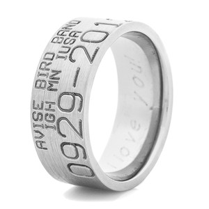 Men's Titanium Original Style Duck Band Wedding Ring