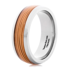 Men's Titanium Guitar String Ring