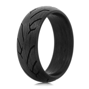 Men's Carbon Fiber Motorcycle Tread Rings
