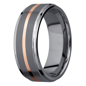 Men's Tantalum & Rose Gold Wedding Ring
