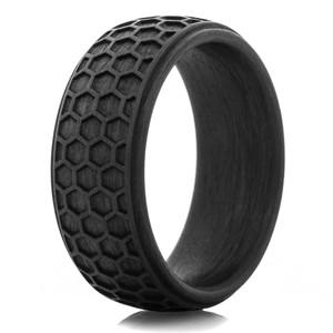 Carbon Fiber Honey Comb Pattern Ring