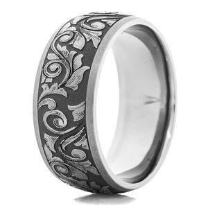 Men's Western Themed Tantalum Ring