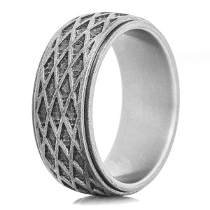 The Double Time Titanium Ring