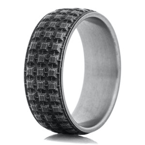 Titanium Battle Worn Tread Ring