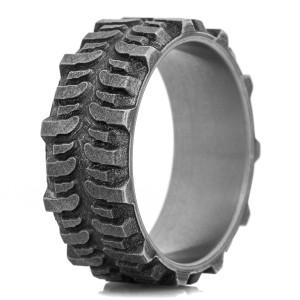 The Titanium Battle Worn Bogger Ring