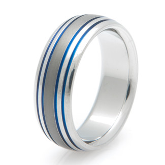 Blue Titanium Rings
