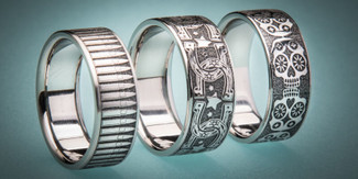 Engraved Promise Rings