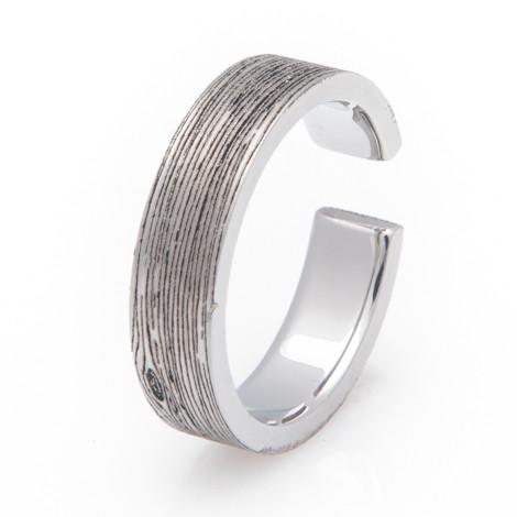 Titanium Woodgrain 2 X 4 Ring