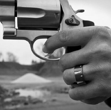 Black Zirconium .38 Caliber Pistol Ring