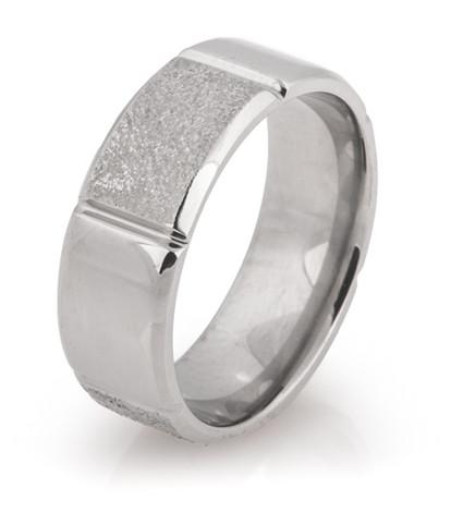 Alternating Finish Arctic Titanium Ring
