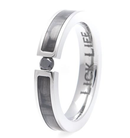Women's Titanium Lady Luck Ring