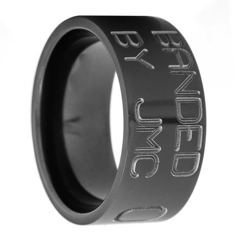 Men's Black Zirconium Duck Band Wedding Ring