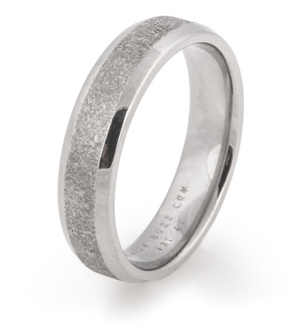 Beveled Arctic Titanium Ring with Polished Edges
