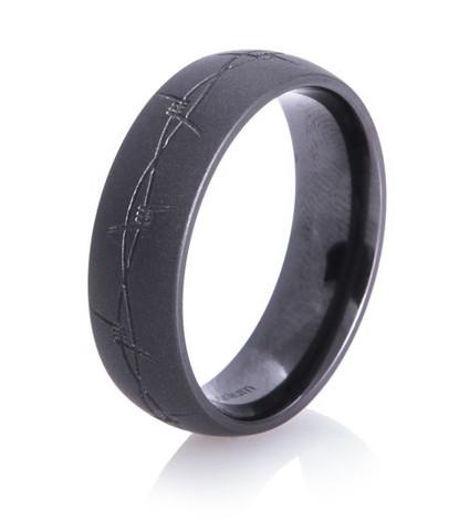Barbwire Flat Black Band