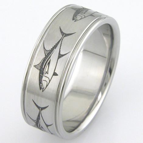 Men's Titanium Big Fish Ring